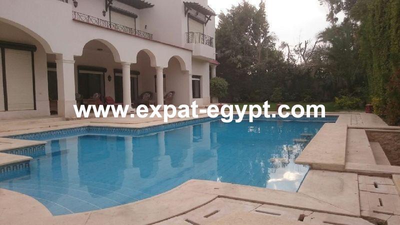 Luxury Villa for ambassador for rent in Garana , Cairo Alex Road , Egypt .
