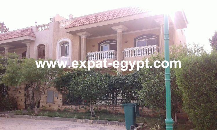 Twin House for sale in Safwa , Sheikh Zayed City , Giza , Egypt .