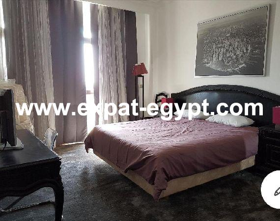 One bedroom hotel apartment overlooking Nile in zamalek for rent