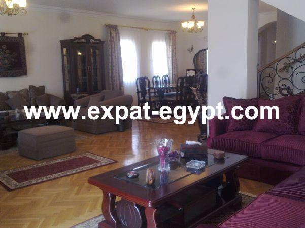 Villa twin House for rent in Greens Compound, sheikh Zayed, Giza, Egypt